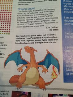 I have ALWAYS considered Charizard a Dragon since I was little. Forget what Pokemon says, we know Charizard better then them and it's THEIR character.