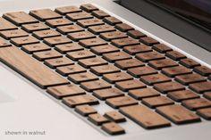 Lazerwood Keys :: teclas de madera natural para MacBook Pro