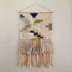 CUSTOM weaving for Serena Vintage woven wall by MaryanneMoodie