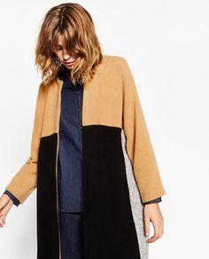 Image 4 of MULTICOLOURED PLUSH COAT from Zara