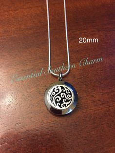 Essential Oils Scroll Diffuser Necklace by EssSouthernCharm