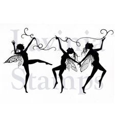 Lavinia Stamps - Clear Stamp - Dancing Til Dawn Fairies,$10.99