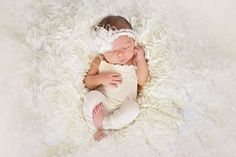 Lace Newborn Romper photo prop with matching by SpoonfulOfFreckles