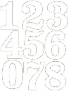 20 free various number template diy crafts free for Number 3 cake template