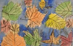 Autumn Leaves with Crayon Resist  inspired by Andy Goldsworthy {plus many other neat art projects on the site}