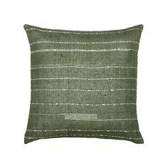 Norfolk hemp pillow with ivory correction stitch