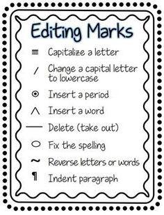 "FREE LANGUAGE ARTS LESSON - ""Writer's Workshop Editing Marks ..."