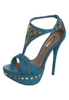 Sandália Dumond Spikes Pirâmides Azul