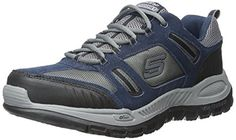 Skechers Relaxed Fit Double Down Mens Sneakers NavyGray 115 >>> Click on the image for additional details.