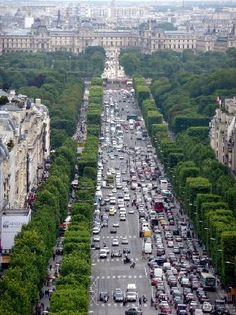 What a beauty! View from Arc de Triomphe down the Champs D'lysee