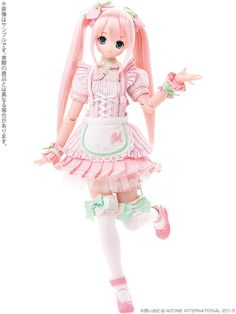 Strawberry Pink Dress with Dollflie