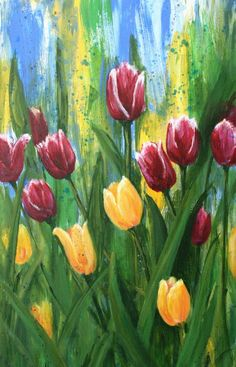 Image detail for -Spring in my Step Painting by Julie Ferrario - Spring in my Step Fine ...