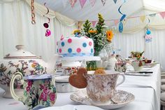 Case study of a teatime marquee with gorgeous details in a long narrow London garden Marquee Hire, London Garden, Tea Time, Baby Shower, Table Decorations, Babyshower, Baby Showers, Dinner Table Decorations