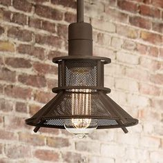 Bring a modern take on vintage barn style lighting into your home with this wonderful olde bronze mini pendant light.