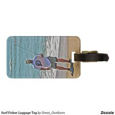 Surf Fisher Luggage Tag