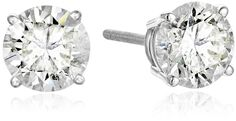 IGI Certified 14k White Gold Round Cut Diamond Stud Earrings (2 cttw, K-L Color, I1-I2 Clarity) > You can find more details here : trend jewelry 2016