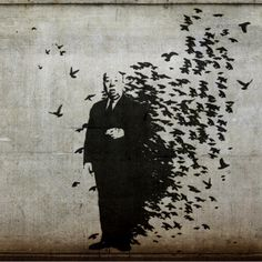 Hitchcock Birds Banksy by iainm