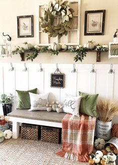 Looking for for ideas for farmhouse living room? Browse around this website for perfect farmhouse living room images. This particular farmhouse living room ideas will look wonderful. Fall Home Decor, Autumn Home, Autumn Garden, Living Room Decor For Fall, Shelf Ideas For Living Room, Country Farmhouse Decor, Modern Farmhouse, Farmhouse Bench, Farmhouse Ideas