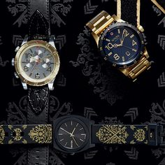 Detailed, inspired. Introducing The Ornate Collection, new from Nixon. Shop now: nixon.fm/ornate-collection