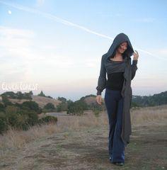 Abrigo largo de Victoria Extra  en negro  tiro por ElvenForest