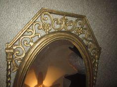 Home Interiors Homco Syroco Style Gold Spanish Wall Mirror regency mid century