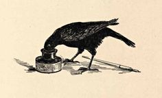 Raven + writing desk