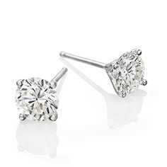 2 CTW Round Brilliant Swarovski Crystal Stud Photo