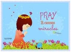 It causes miracles. Uplifting Thoughts, Happy Thoughts, Positive Thoughts, Prayer Quotes, Words Quotes, Life Quotes, Sayings, Quotation Marks, Power Of Prayer