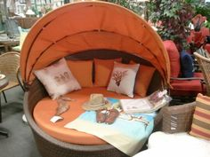 Outdoor Wicket Dome Seat Love This!!!