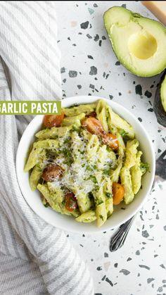 Healthy Pasta Recipes, Healthy Pastas, Avocado Recipes, Healthy Snacks, Vegetarian Recipes, Cooking Recipes, Clean Food Recipes, Healthy Meala, Recipes Dinner