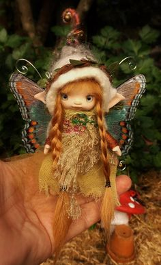 sweet tiny 4 inch ooak posable tiny fairy by throughthemagicdoor