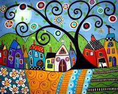 KARLA GERARD, USA: POLKA DOT CHURCH --- ART PRINT   eBay