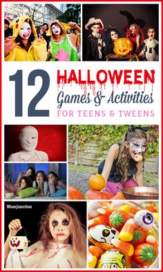 Is your tween or teenager planning to throw a Halloween party? Then help her out by suggesting some fun Halloween games activities for preteens and teens. games activities 12 Halloween Games And Activities For Teens And Tweens Halloween Tags, Halloween Games Teens, Teen Halloween Party, Halloween Party Activities, Theme Halloween, Halloween Carnival, Halloween Juegos, Halloween Ideas, Halloween Camping