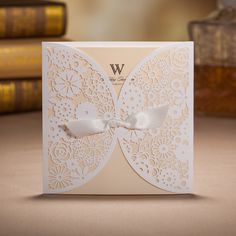 50 Rustic Laser Cut Wedding Invitation Cards With Envelopes And Seals     Ship Worldwide Days By WishmadeCards On Etsy