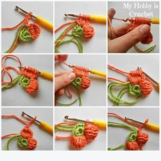 My Hobby Is Crochet: 5 Petals Cluster Flower- Free Pattern with Phototutorial…Cute little flowers, great for using up scrap yarns. The pattern includes written instructions, crochet chart and ph.How to make a flower 2 Crochet Leaves, Crochet Motifs, Knitted Flowers, Freeform Crochet, Crochet Chart, Crochet Stitches, Blanket Crochet, Crochet Flower Tutorial, Crochet Diy