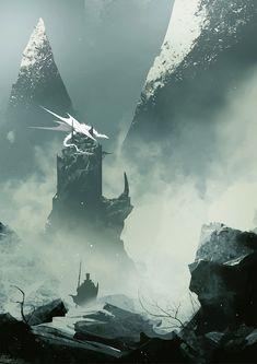 blind dragon by mer tun Digital Art Masters: Volume 5 Shadow Of The Colossus, High Fantasy, Fantasy World, Dragons, Fantasy Places, Fantasy Dragon, Fantasy Setting, Environment Concept Art, Fantasy Landscape
