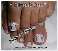 Resultado de imagen para unha do pé decorada Nails, Pretty Pedicures, Finger Nails, Ongles, Nail, Sns Nails