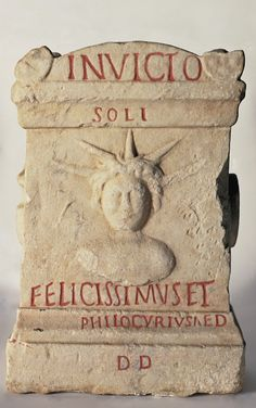 Ara dedicata al Sol Invictus, 150-200. Musei Vaticani, Vaticano. Cultura romana