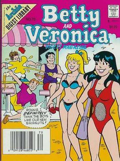 A cover gallery for the comic book Betty and Veronica Digest Archie Comics Characters, Archie Comic Books, Archie Comics Riverdale, Betty & Veronica, Archie And Betty, Josie And The Pussycats, Estilo Pin Up, Comics Story, Retro