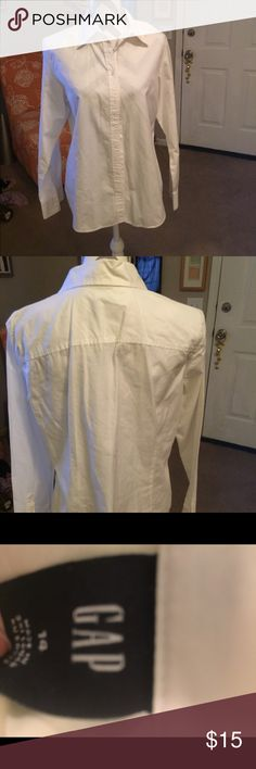 GAP white shirt GAP white shirt   Size 14.  100% Cotton. Gently worn GAP Tops Blouses