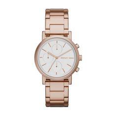 DKNY HORLOGE ny2275 | Rosé gouden DKNY dameshorloge met witte wijzerplaat | http://www.horlogesstyle.nl/dkny-horloges #dknyhorloge #dkny #dameshorloges