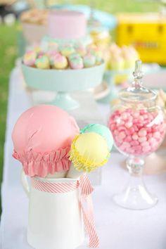 Gorgeous pastel ice cream shoppe party