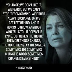 Meredith Grey and her words of wisdom. Life Quotes Love, Quotes To Live By, Best Quotes, Funny Quotes, Quotes Quotes, 2015 Quotes, Wisdom Quotes, Pain Quotes, Nature Quotes