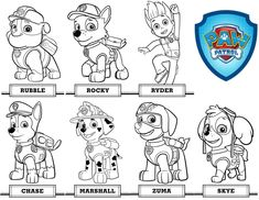 Paw Patrol Ausmalbilder Dabad Paw Patrol Rocky, Zuma Paw Patrol, Cool Coloring Pages, Cartoon Coloring Pages, Paw Patrol Coloring Pages, Children And Family, Historical Fiction, All Dogs, Easy Drawings