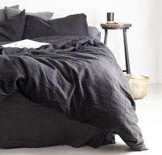 100% Linen Duvet Cover | Rough Linen - Natural, Minimalist Bedding