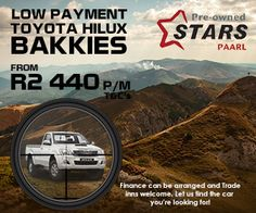 Buy a Toyota Hilux Bakkie in Paarl (South Africa) from Only per month. Terms and conditions apply. Toyota Hilux, South Africa, Finance, How To Apply, Economics