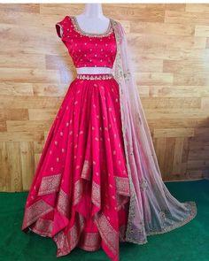 Indian Gowns Dresses, Indian Fashion Dresses, Girls Dresses, Flower Girl Dresses, Choli Dress, Gown Dress, Ghagra Choli, Long Dress Design, Silk Lehenga