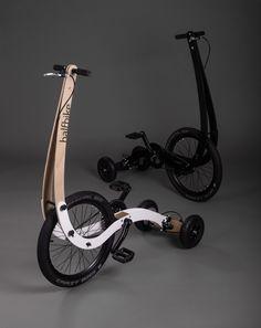 halfbike II redesigns bicycle to make a more intuitive, full body ride Velo Design, Bicycle Design, Velo Beach Cruiser, Tricycle, Wood Bike, Scooter Bike, Drift Trike, Mini Bike, Fun Workouts
