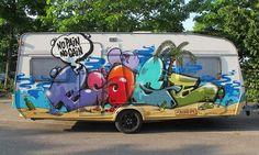 Caravans make great frames! Nice piece by Boogie (SML).