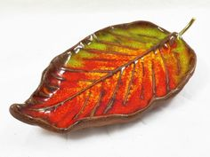 Ceramic Leaf Available on: http://en.dawanda.com/shop/Especially-4-You  Projekt Rękodzieło (Project Handmade) is a shop with products made by Polish artists, craftmans and designers. You will find here an original jewelery and accessories, toys, interior decorations and original gift ideas. facebook.com/projekt.rekodzielo